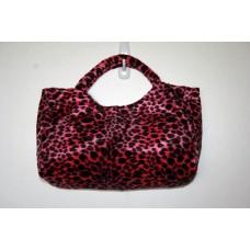 Pink Cheetah Faux Fur Clutch
